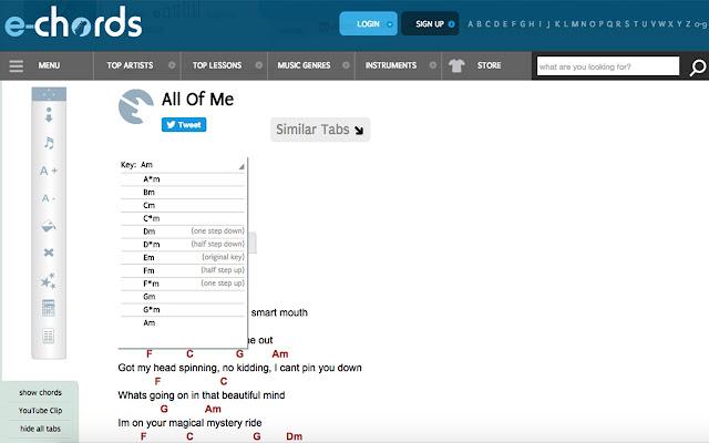 E Chords Key Change Extension Chrome Web Store