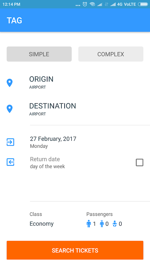 Cheap Flight Search Engine- screenshot