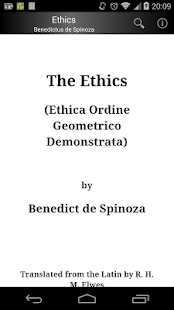 Ethics by Spinoza- screenshot thumbnail