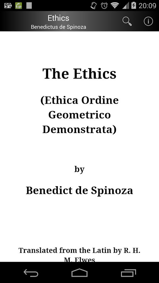 Ethics by Spinoza- screenshot
