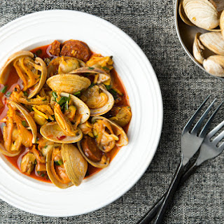 Spanish Clams and Chorizo