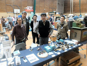 Photo: 132 Yoshiya Kobayashi (on the left) with colleagues from the Japanese Modellers Group. It goes without saying that the group came all the way from Japan to show a fascinating display of top quality small scale modelling and also brought a tempting array of items for sale – which rapidly disappeared from what I could see. I know a few fellow modellers who have much lighter wallets and bigger card bills coming in as a result – I avoided temptation, too busy taking snaps you see………….