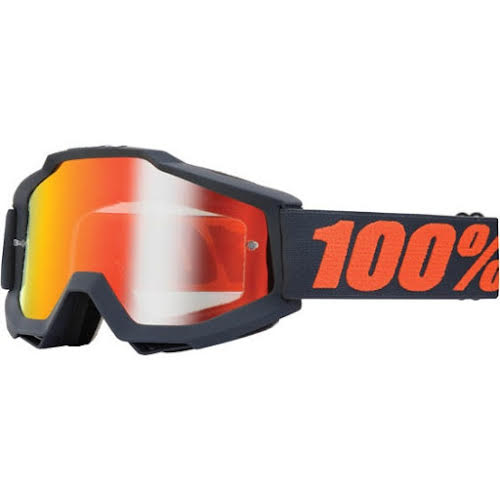 100% Accuri Goggle, Matte Gunmetal (Mirror Red)