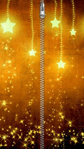 金色拉鍊鎖屏