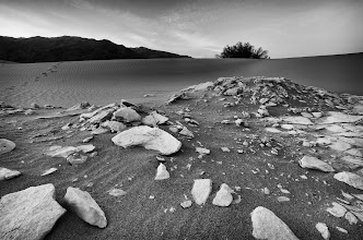 Photo: The road we traveled Death Valley, CA. 2011.  Rather than dig up my first post, I'd like to re-live that first photowalk that was a game-changer for me.  On a whim I took up Thomas Hawk's invitation to come up to Death Valley while we were in a hangout, called the Atomic Inn and got one of their luxury suites. (Because thats how I roll).  On this morning, I'd flown into Vegas around 10 pm the night before, played poker until about 2 AM, and then got in my rental car and drove straight for the rendezvous point, arriving just in time to catch the caravan heading out to the Dunes.  With no sleep I grabbed my gear and headed straight into the Dunes, until I finally found Lotus, Sly, Thomas, and Scott. -- Along with all the other wonderful photographers I met that weekend; that trip was a game-changer for my life on Google Plus.  #dv2011