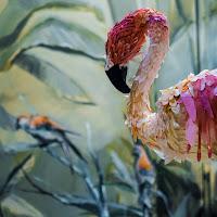 Il flamingo di carta di