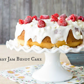 Strawberry Jam Bundt Cake.
