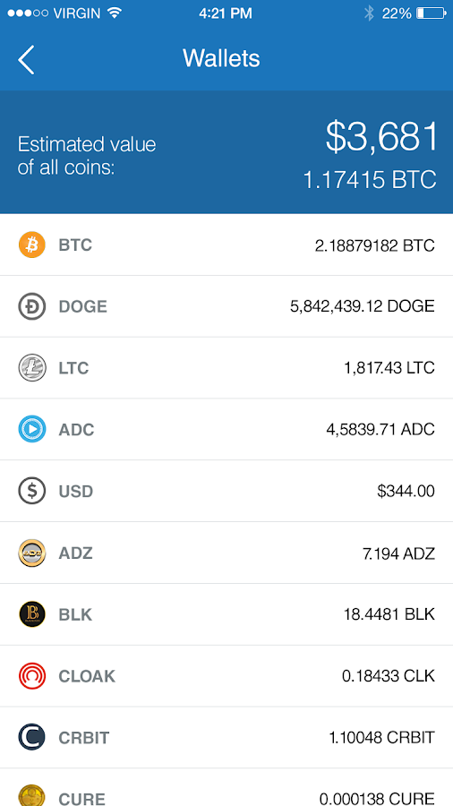 CoinPayments- screenshot