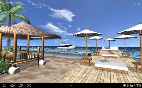 Beach In Bali 3D FREE LWP - screenshot thumbnail