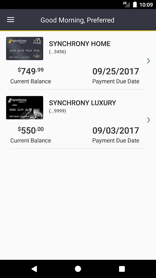 synchrony bank google