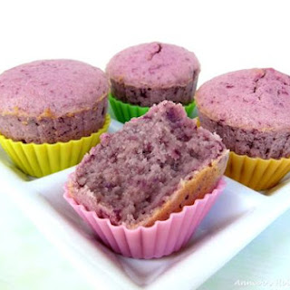Purple Sweet Potato Cupcakes