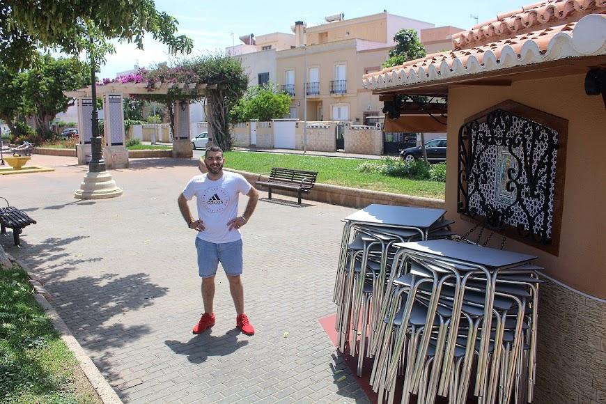 Kiosko El Lengüetas, Jesús Pérez, Plaza España Ciudad Jardín.