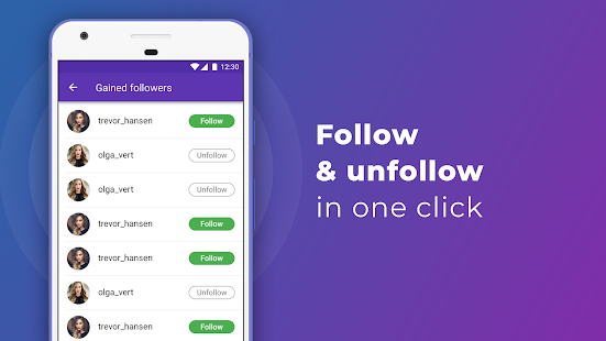 Download iUnfollowed: followers & unfollowers for Instagram For