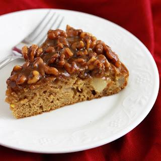 Caramel Pear & Walnut Cake