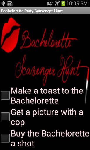 Bachelorette Scavenger App
