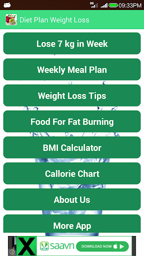 Diet Plan Weight Loss