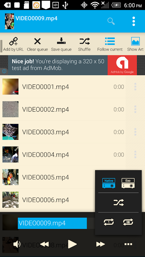 MP3 Music Video Player- screenshot