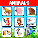 Animal sounds. Learn animals names for kids icon