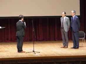 Photo: 北園会長からお礼