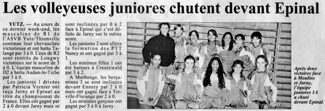 Photo: 27-11-96 Juniors filles 1, la bande à Patou
