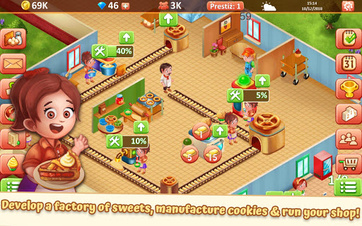 Idle Sweet Bakery - Cakes Factory  captures d'écran 3