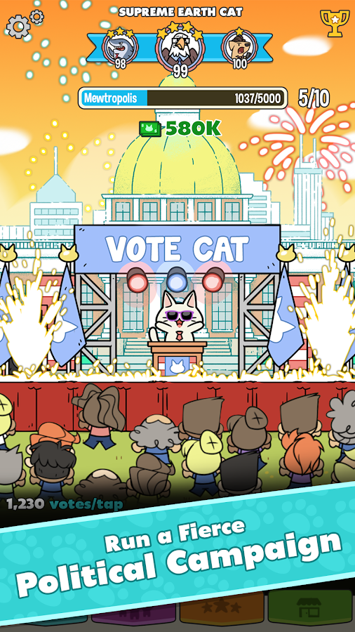 PolitiCats: Free Clicker Game- screenshot