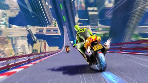 Superhero Bike Stunt GT Racing - Mega Ramp Games screenshots 2