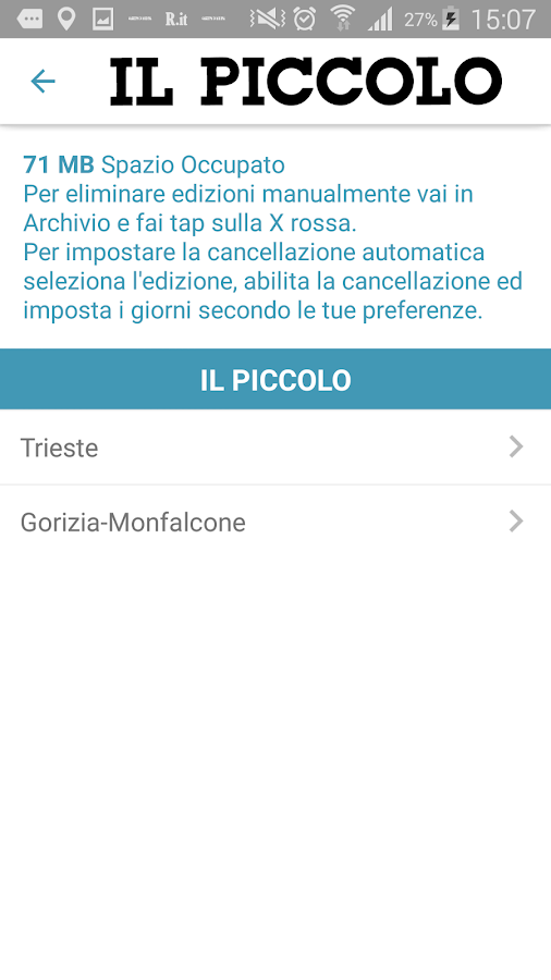 Il Piccolo- screenshot