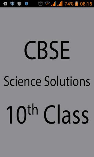CBSE Science Solution Class 10