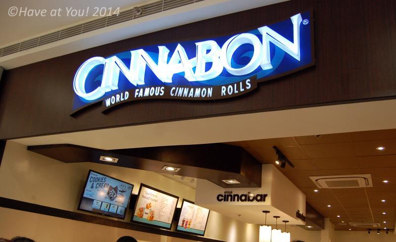 Cinnabon signage