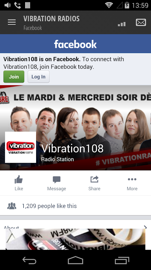 VIBRATION RADIOS – Capture d'écran