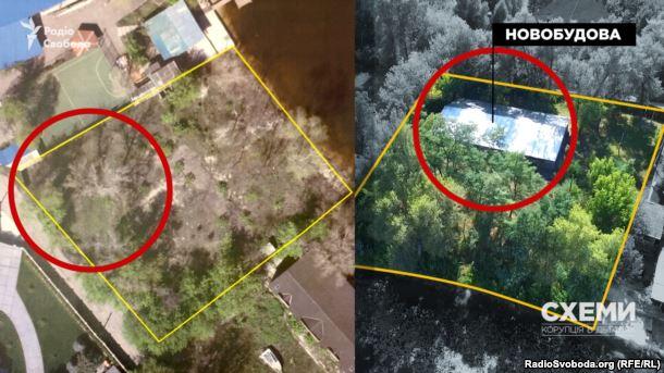 Там, де ще рік тому були лише дерева, з'явилася будівля