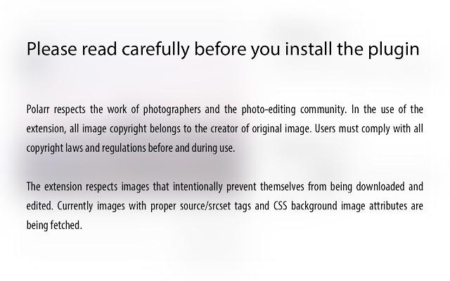 Polarr Plugin: Edit Any Photo on the Internet chrome extension