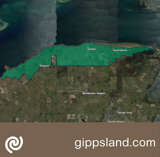 Business fibre zone indicative map in Cowes and surrounds