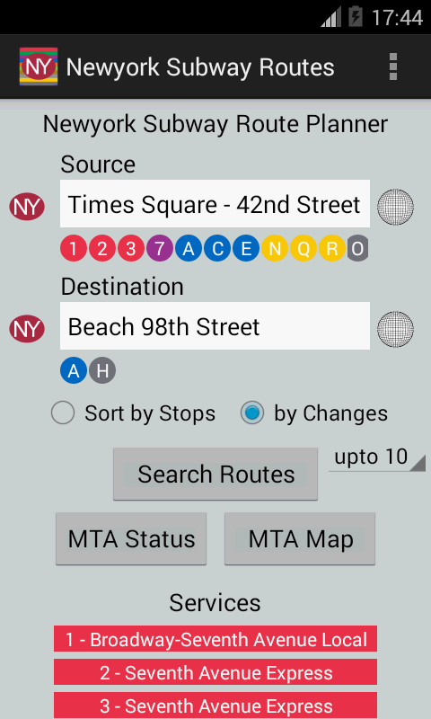 Newyork Subway Route Planner Android Apps On Google Play