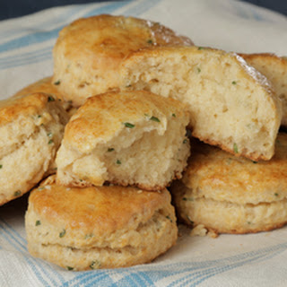 Mario Batali's Chive and Honey Biscuits.