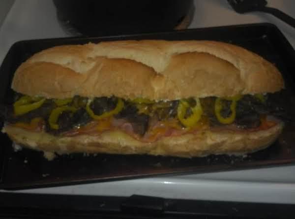 Huge Roast Beef And Provolone Hoagie Recipe