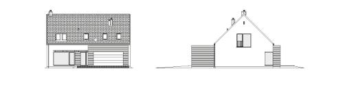 Atrakcyjny 1A - Elewacja przednia i lewa