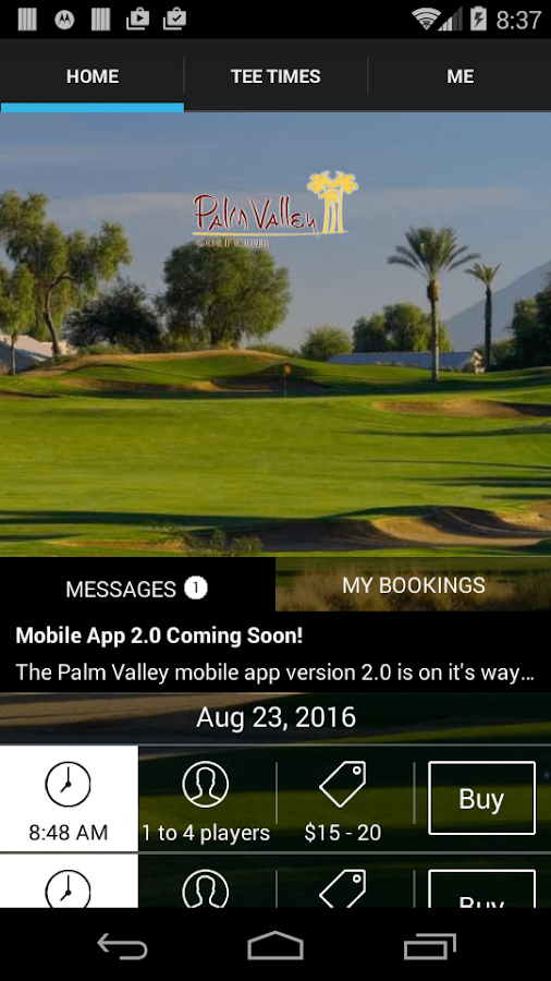 Palm Valley Tee Times- screenshot