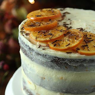 Chocolate Orange Stout Cake with Orange Buttercream Frosting.