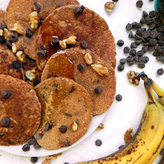 Chocolate Chip Banana Oat Blender Pancakes