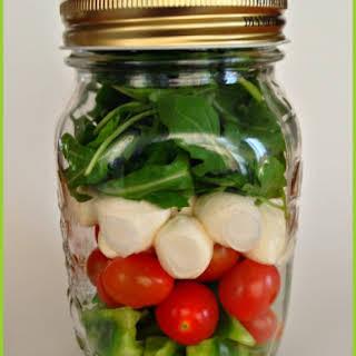 Clean Eating Salad in Mason Jar - Italian Style.