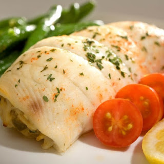 Baked Flounder Stuffed With Crabmeat.