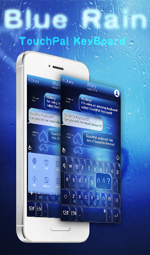 TouchPal Blue Rain Theme