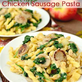 Sweet Apple Chicken Sausage Pasta.