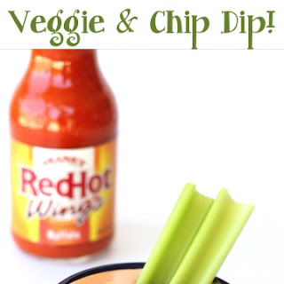 Buffalo Ranch Veggie and Chip Dip Recipe!