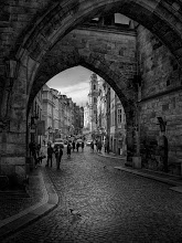 Photo: Prague Gate - February 2008 - B/W version.