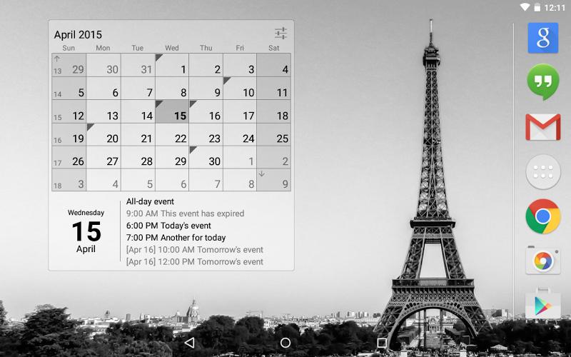 Calendar Widget Month + Agenda Screenshot 6