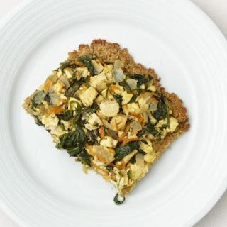 Quinoa Crusted Spinach Tofu Pie