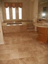 Photo: Carpet gone, new stone floor
